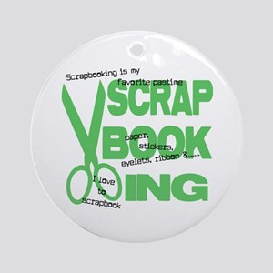 Scrapbooking - Green Ornament (Round)