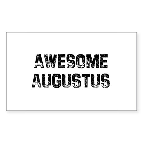 Awesome Augustus Rectangle Sticker