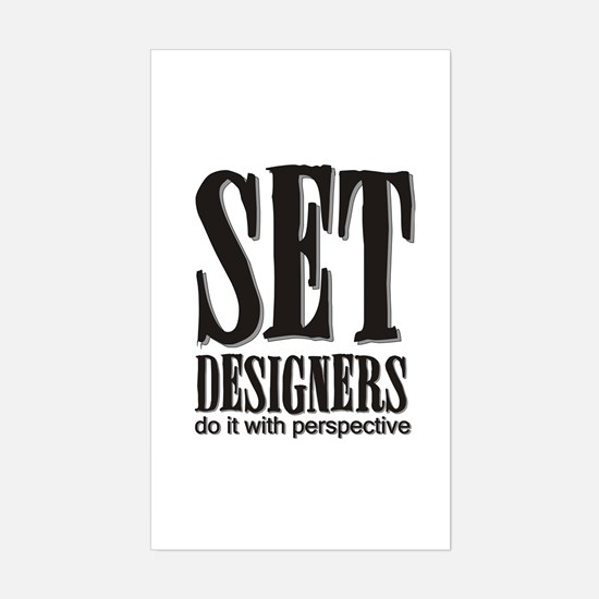Set Designers do it with Pers Sticker (Rectangular