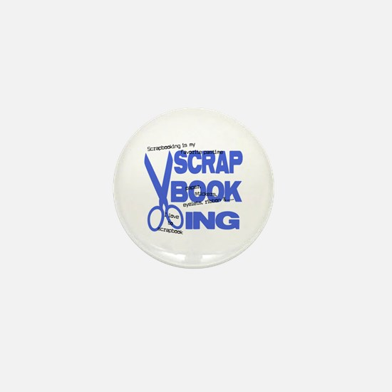 Scrapbooking - Blue Mini Button