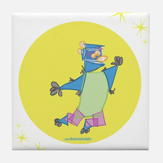 Hoppy Bear Tile Coaster