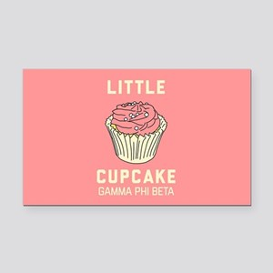 Gamma Phi Beta Little Cupcake Rectangle Car Magnet
