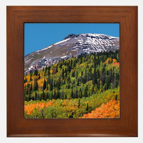 Framed Tile  Brown Mountain (left)
