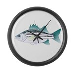 White Bass ft Large Wall Clock