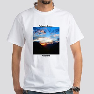 White T-Shirt - Telluride Sunset / Bridal Veil
