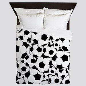 Soccer ball pattern Queen Duvet