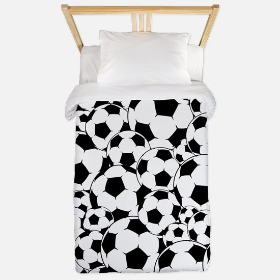 Soccer ball pattern Twin Duvet