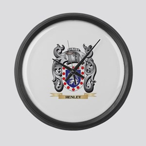 Henley Coat of Arms - Family Cres Large Wall Clock