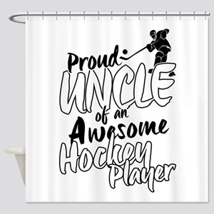 Proud Uncle of An Awesome Hockey Player Shower Cur