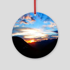Round Ornament/ Telluride Sunset
