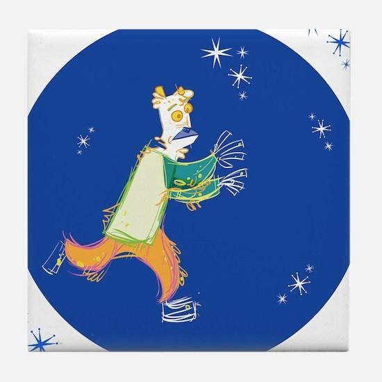 Clowny Mime Bear [blue 2] Tile Coaster