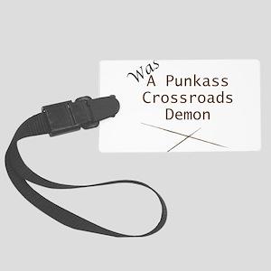 Punkass Crossroads Demon Luggage Tag