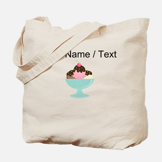 Custom Ice Cream Sundae Tote Bag