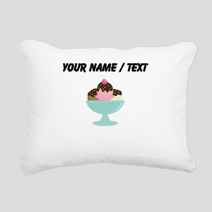 Custom Ice Cream Sundae Rectangular Canvas Pillow