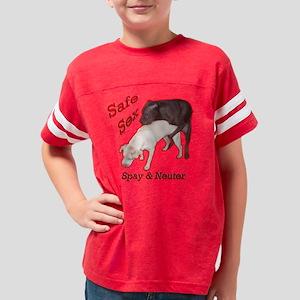 Safe Sex Black USE Youth Football Shirt