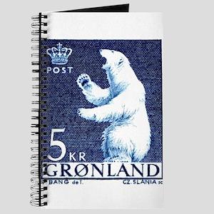 Vintage 1963 Greenland Polar Bear Postage Stamp Jo