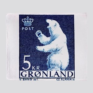 Vintage 1963 Greenland Polar Bear Postage Stamp Th