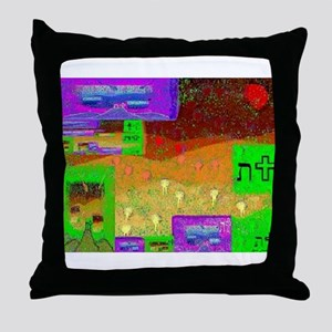 Tau - At The Crossroad by Bre Throw Pillow