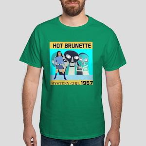 Hot Brunette Mystery Girl 1967 Dark T-Shirt