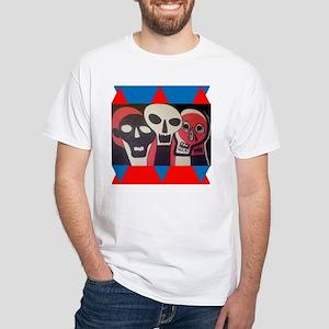 Skull Movement Mens White T-Shirt