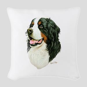 Bernese Mountain Dog Woven Throw Pillow
