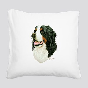 Bernese Mountain Dog Square Canvas Pillow