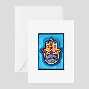 Turquoise Hamsa Greeting Card