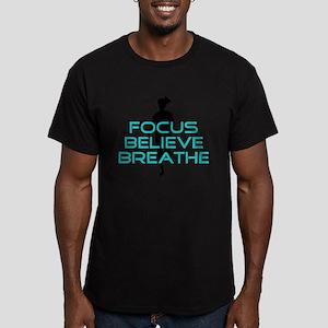 Aqua Focus Believe Breathe Men's Fitted T-Shirt (d