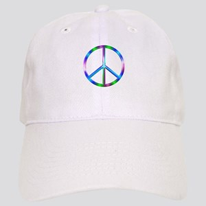 Shiny Colorful Peace Sign Cap