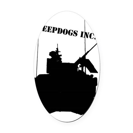 SHEEPDOGS INC. Oval Car Magnet