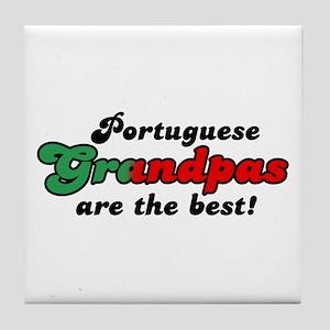 Portuguese Grandpas Tile Coaster