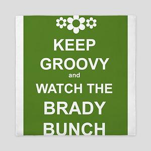 Keep Groovy Watch Bradys Queen Duvet