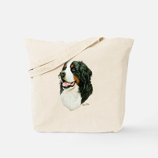 Cute Bernese mountain dog Tote Bag