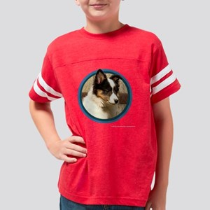 sheltiePuppyArt_tshirtTrans Youth Football Shirt