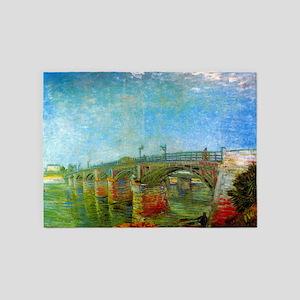 The Seine Bridge at Asnieres by Van Gogh 5'x7'Area