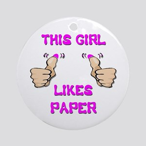 This Girl Likes Paper Ornament (Round)