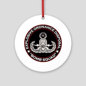 Master EOD Bomb Squad Ornament (Round)