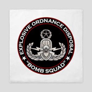 Master EOD Bomb Squad Queen Duvet