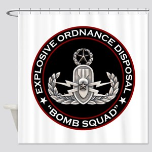 Master EOD Bomb Squad Shower Curtain