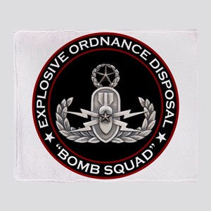 Master EOD Bomb Squad Throw Blanket