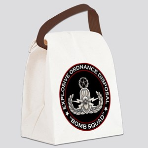 Master EOD Bomb Squad Canvas Lunch Bag