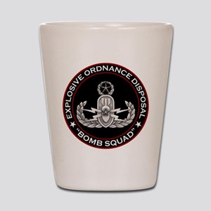 Master EOD Bomb Squad Shot Glass