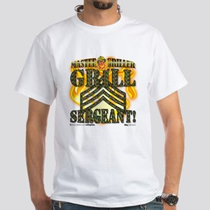 """Grill Sergeant!"" White T-Shirt"