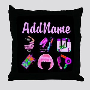 WILD HAIR STYLIST Throw Pillow