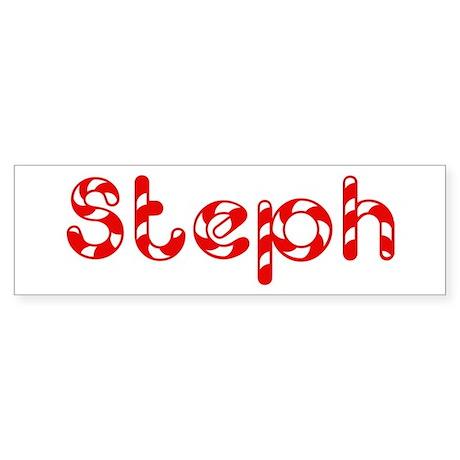 Steph - Candy Cane Bumper Sticker