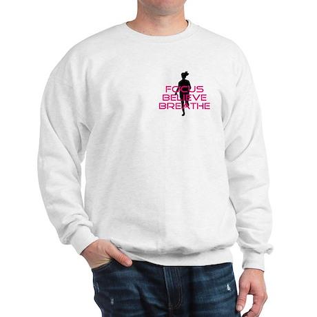 Pink Focus Believe Breathe Sweatshirt