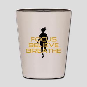 Yellow Focus Believe Breathe Shot Glass