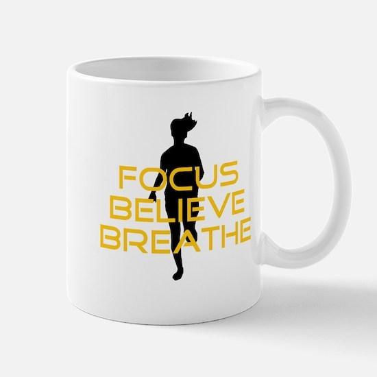 Yellow Focus Believe Breathe Mug