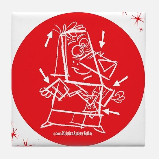 Mr. Barkenwoof Tile Coaster