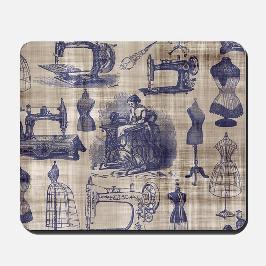 Vintage Sewing Toile Mousepad